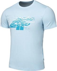 Niebieska koszulka dziecięca 4F z bawełny z krótkim rękawem
