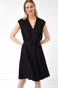 Czarna sukienka ORSAY mini bez rękawów rozkloszowana