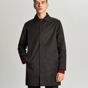 Czarny płaszcz męski Cropp w stylu casual