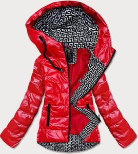 Czerwona kurtka Goodlookin.pl z kapturem w stylu casual