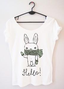 T-shirt Time For Fashion w młodzieżowym stylu z okrągłym dekoltem