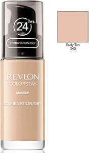 Revlon, ColorStay, podkład z pompką do cery mieszanej i tłustej z formułą SoftFlex, 340 Early Tan, 30 ml