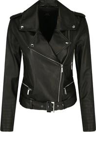 Czarna kurtka Armani Exchange w rockowym stylu