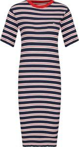 Sukienka Tommy Jeans w stylu casual z krótkim rękawem