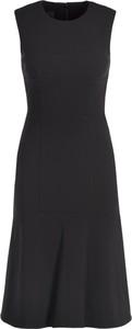 Czarna sukienka Pinko trapezowa z okrągłym dekoltem