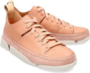 Sneakersy Clarks sznurowane z płaską podeszwą