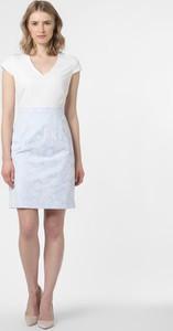 Niebieska sukienka comma, mini z krótkim rękawem z dekoltem w kształcie litery v