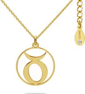 Hebe Naszyjnik znak zodiaku BYK 925 z kryształem Swarovskiego srebro 925 : Kolor pokrycia srebra - Pokrycie Żółtym 24K Złotem