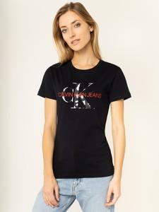 T-shirt Calvin Klein z krótkim rękawem w młodzieżowym stylu