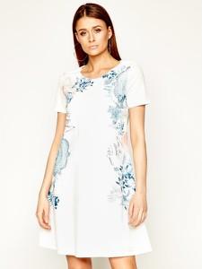 Sukienka Desigual w stylu casual z okrągłym dekoltem mini