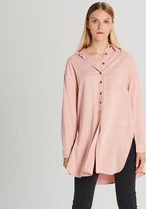 Różowa koszula Cropp z długim rękawem