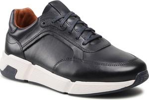 Buty sportowe Lasocki For Men sznurowane ze skóry w sportowym stylu