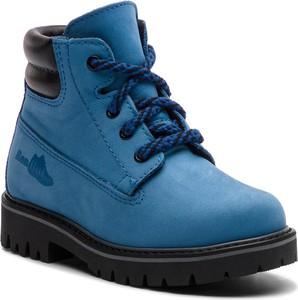 Niebieskie buty zimowe RenBut sznurowane
