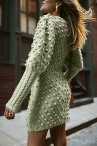 Sukienka Ivet.pl z bawełny z długim rękawem w stylu casual