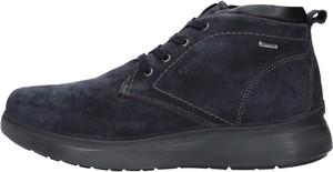Granatowe buty zimowe Igi & Co sznurowane