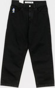 Czarne spodnie Polar Skate z plaru