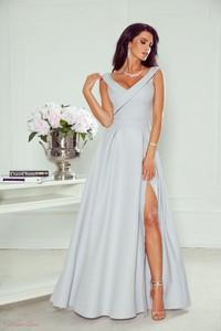 Sukienka Paris maxi z dekoltem w kształcie litery v