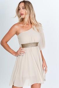Sukienka Zoio z długim rękawem mini asymetryczna