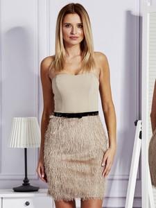 Sukienka Factory Price w stylu glamour mini na ramiączkach
