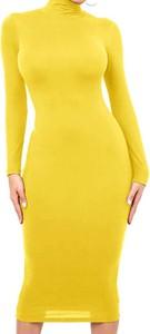 Żółta sukienka Arilook z dresówki w stylu casual