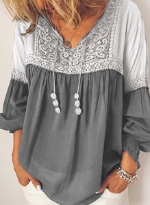 Bluzka Sandbella z dekoltem w kształcie litery v