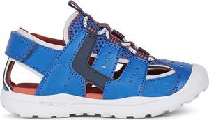 Buty dziecięce letnie Geox na rzepy ze skóry dla chłopców