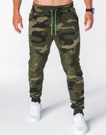 Zielone spodnie sportowe Ombre Clothing w street stylu