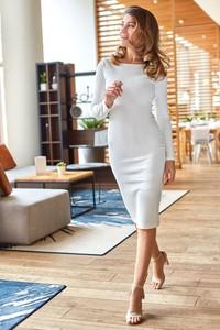 Sukienka Style z długim rękawem midi ołówkowa