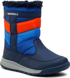 Granatowe buty dziecięce zimowe Merrell dla chłopców