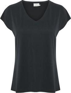 Czarny t-shirt Kaffe z krótkim rękawem