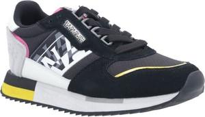 Buty sportowe Napapijri z płaską podeszwą ze skóry sznurowane