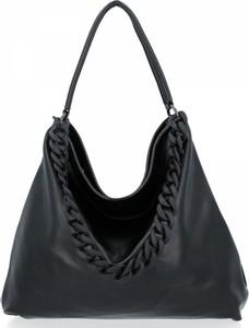 Czarna torebka Diana&Co w stylu glamour na ramię duża