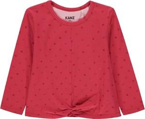 Czerwona bluzka dziecięca Kanz z bawełny z długim rękawem