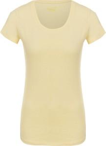 Żółty t-shirt Liu-Jo z okrągłym dekoltem