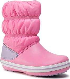 Różowe buty dziecięce zimowe Crocs