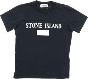 Granatowa koszulka dziecięca Stone Island dla chłopców