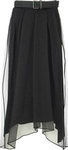 Czarna spódnica Brunello Cucinelli midi