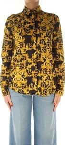 Żółta koszula Versace Jeans w stylu casual z długim rękawem