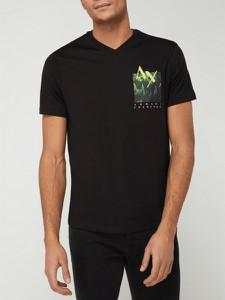 T-shirt Armani Exchange w młodzieżowym stylu z nadrukiem