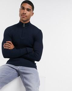 Granatowy sweter Brave Soul z bawełny w stylu casual