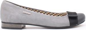 Zapato balerinki - skóra naturalna - model 007 - kolor grafit