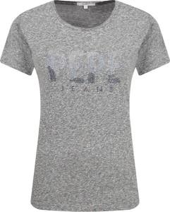 T-shirt Pepe Jeans z krótkim rękawem w stylu casual z okrągłym dekoltem