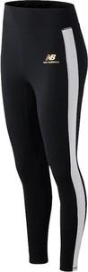 Czarne spodnie New Balance z dzianiny w sportowym stylu