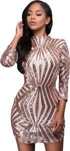 Elegrina sukienka imprezowa lana różowy