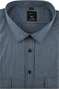 Koszula Laviino z krótkim rękawem z tkaniny w stylu casual