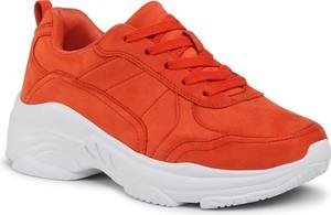Pomarańczowe buty sportowe Jenny Fairy sznurowane