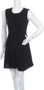 Czarna sukienka Iska bez rękawów z okrągłym dekoltem mini