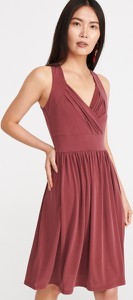 Fioletowa sukienka Reserved mini bez rękawów z dekoltem w kształcie litery v