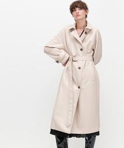Płaszcz Reserved w stylu casual ze skóry