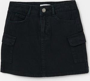 Czarna spódniczka dziewczęca Reserved z bawełny
